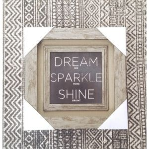 Dream Big Sparkle More Shine Bright Canvas 12x12